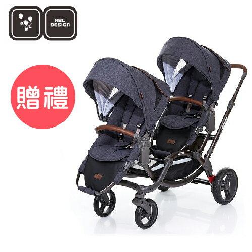 【雨罩/蚊帳二選一】德國【ABC Design】ZOOM 嬰兒雙人推車(高階皮革版)(2017新款12月到貨) 0