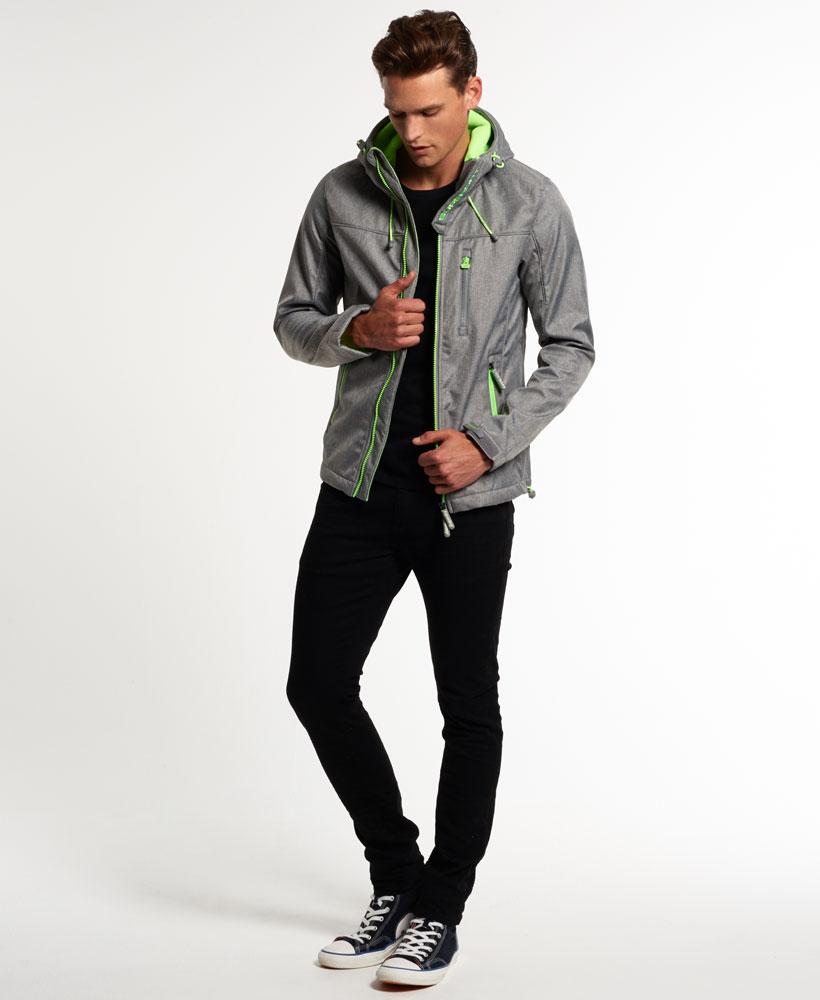 [男款] OUTLET英國名品 代購 極度乾燥 Superdry Windtrekker 男士風衣戶外休閒外套 防水 灰色/螢光綠 1
