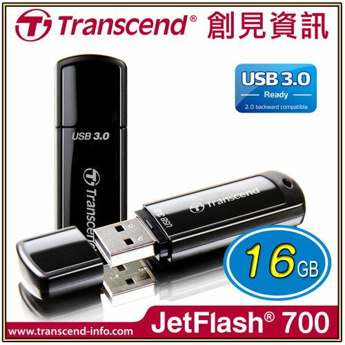 【Transcend 創見】JF700 USB3.0 16G黑/隨身碟 TS16GJF700