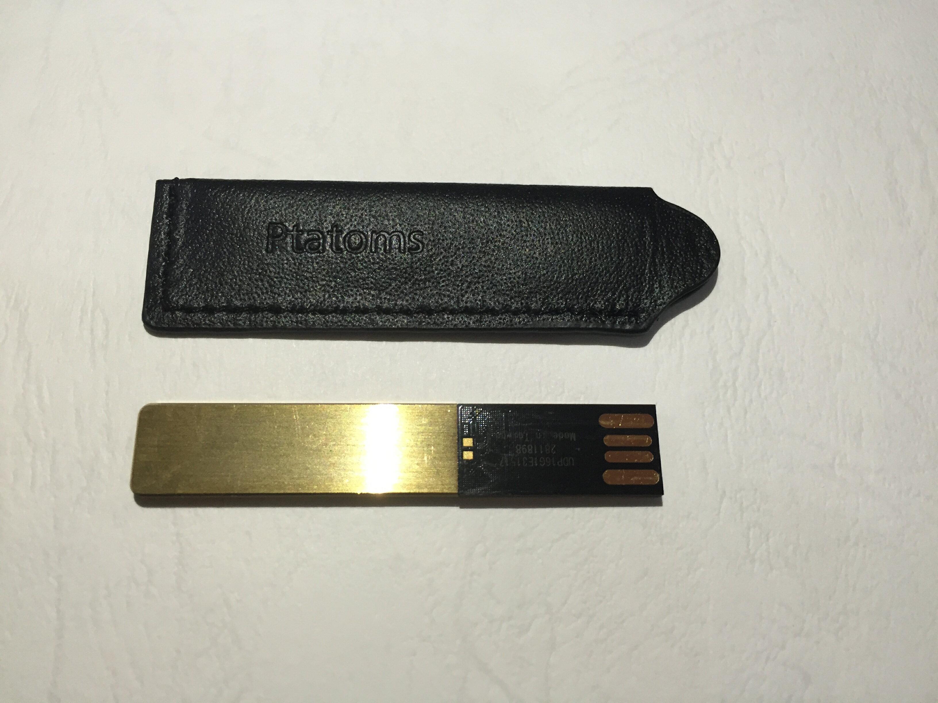 ELK-PTATOMS高品質金色USB隨身碟精美禮盒組16G(付黑色質感皮套) 1