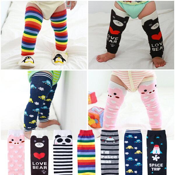 卡通兒童護膝套 嬰兒襪套 爬行套 保暖護腿襪套 26199