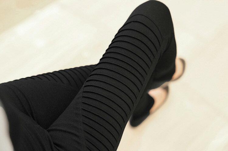 內搭褲 激瘦超彈斜紋加絨加厚彈力小腳褲鉛筆褲 艾爾莎【TAS8522】 2