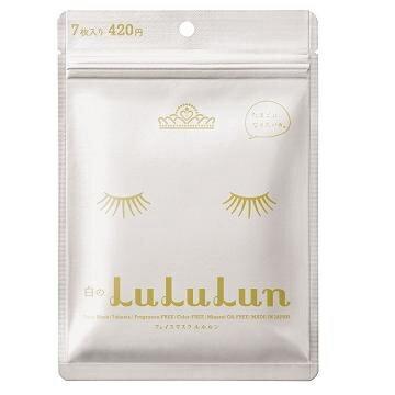 素晴館 日本lululun透白面膜 完美透明感型(白) (7枚/包)