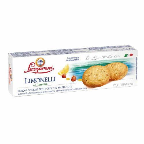 【LAZZARONI 經典義大利餅乾】盒裝甜餅乾系列★經典傳統檸檬餅乾★100g - 限時優惠好康折扣