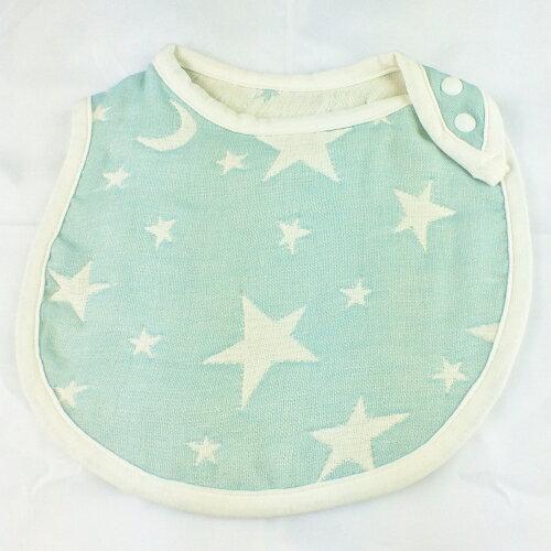 日本製 六重紗 大星星圍兜 : 2015年款