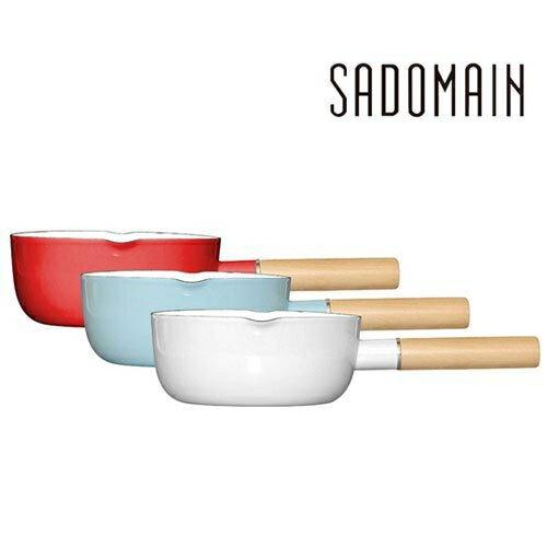 【晨光】仙德曼SADOMAIN 琺瑯單柄雪平鍋  SV318 18cm 1.9L(復古紅、水樣藍、象牙白) (072914)【現貨】