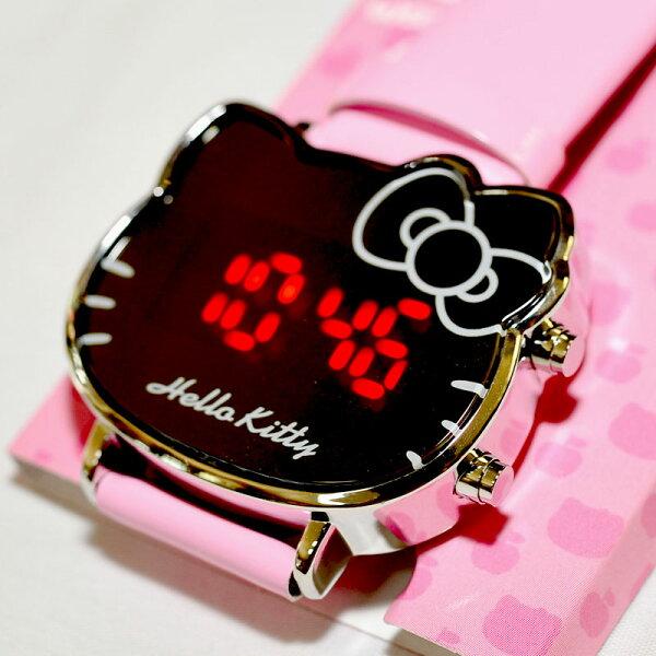粉色 Hello Kitty 鏡子造型手錶 日本限定 附禮盒
