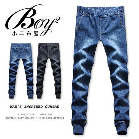 ☆BOY-2☆ 【KK3847】縮口褲 韓版潮流牛仔褲窄管褲 0