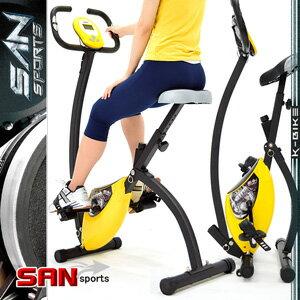【SAN SPORTS 山司伯特】K-BIKE飛輪式磁控健身車(室內折疊腳踏車.摺疊美腿機.運動健身器材.推薦哪裡買)C082-920