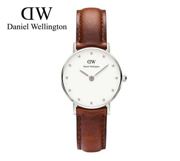 瑞典正品代購 Daniel Wellington 0920DW 銀 玫瑰金  真皮 錶帶 男女錶 手錶腕錶 26MM 0