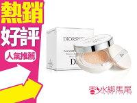 Dior 迪奧推薦Dior香水/Dior唇膏/Dior包包到◐香水綁馬尾◐ Dior 迪奧 雪晶靈 光感 氣墊粉餅 (粉盒+粉蕊15g*2入) 色號#020