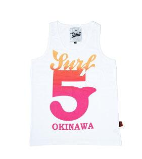 【ECHO】衝浪OKINAWA/白色全棉背心/100%MIT服飾