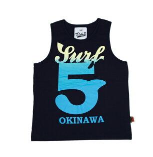【ECHO】衝浪OKINAWA/黑色全棉背心/100%MIT服飾