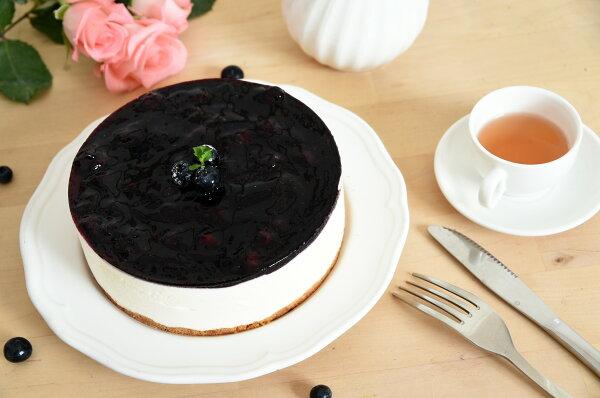 莉雅 法國藍莓生乳酪蛋糕4號 (使用百分之百法國進口起士) 6吋