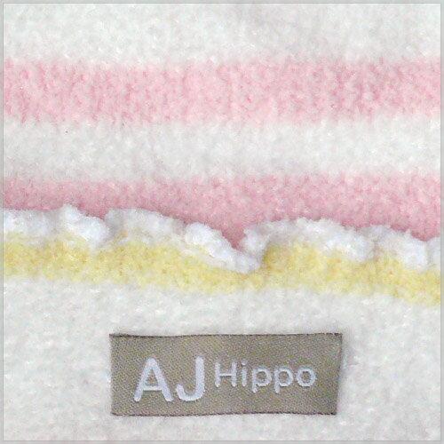 【AJ Hippo 】 小河馬 - 初生型針織嬰兒帽(藍/粉) 4