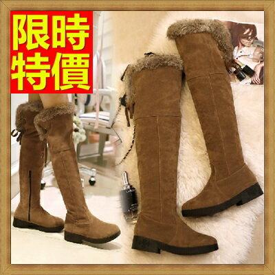 雪靴 女長筒靴-磨砂兔毛防水防滑加絨保暖高筒女靴子3色64aa16【韓國進口】【米蘭精品】