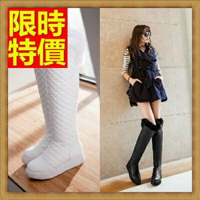 雪靴 女長筒靴-過膝平底防水防滑加絨保暖高筒女靴子3色64aa22【韓國進口】【米蘭精品】