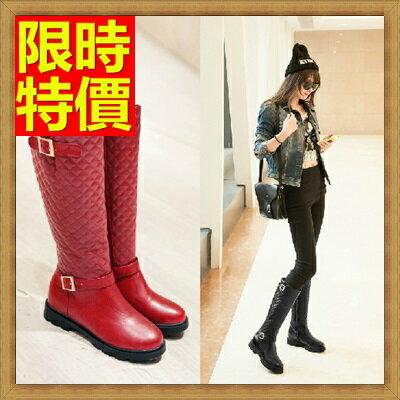 雪靴 女長筒靴~圓頭平跟平底防水防滑加絨保暖高筒女靴子4色64aa23~韓國 ~~米蘭 ~