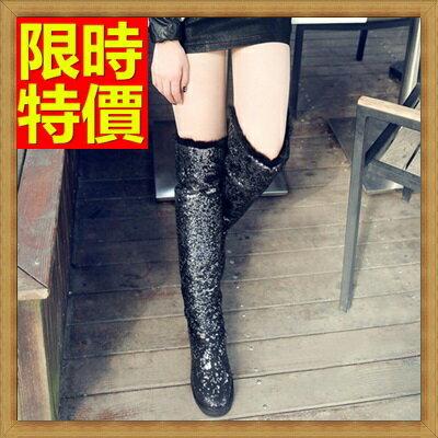 雪靴 女長筒靴-野兔毛亮片防水防滑加絨保暖高筒女靴子64aa26【韓國進口】【米蘭精品】