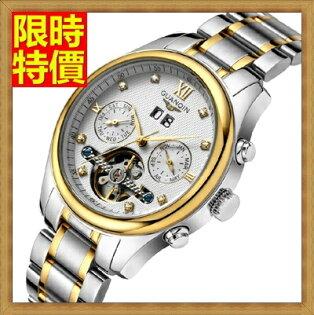 機械錶 手錶-陀飛輪自動商務復古精鋼鏤空男士腕錶4色66ab40【獨家進口】【米蘭精品】