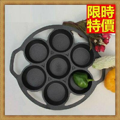 鑄鐵鍋 煎蛋鍋-日本南部鐵器受熱均勻鍋體厚無煙七孔雞蛋糕模具68aa27【獨家進口】【米蘭精品】