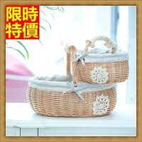 野餐籃打造貴婦風格野餐籃 編織籃子(小)-日式蕾絲田園風郊遊用品68e2【獨家進口】【米蘭精品】