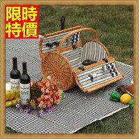 野餐籃打造貴婦風格野餐籃 編織籃子含餐具組合-情侶戶外踏青兩人份郊遊用品68e23【獨家進口】【米蘭精品】