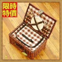 野餐籃打造貴婦風格野餐籃 編織籃子含餐具組合-戶外保溫保冷二人份手提郊遊用品68e46【獨家進口】【米蘭精品】
