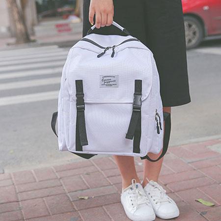 後背包 學院風帆布包電腦包書包【O3131】☆雙兒網☆ 4