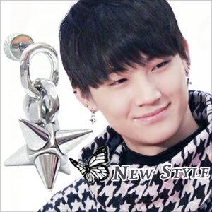 ☆ New Style ☆ GOT7 JB 林在範 同款幾何流星墜穿刺耳環 (單支價)