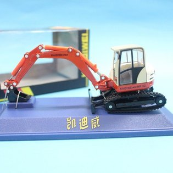 凱迪威 1:50 合金履帶鏟車挖土機 怪手 橘色 625001 合金工程車 模型車 仿真汽車/一個入{促550}