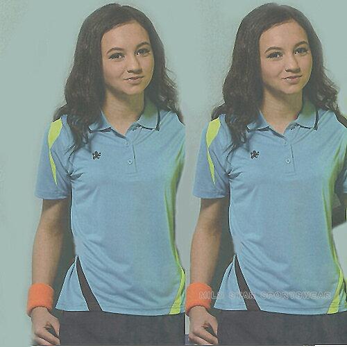 MILD STAR 女版吸濕排汗短POLO衫-天藍#LS700299 - 限時優惠好康折扣