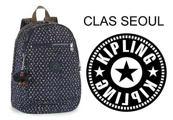 OUTLET代購【KIPLING】時尚經典Seoul旅行袋 斜揹包 肩揹包 後揹包 點點藍 0