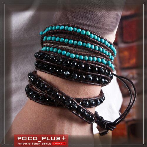 PocoPlus 街頭復古手鍊 邊之男女情侶飾品  手鍊~AC004~ ~  好康折扣
