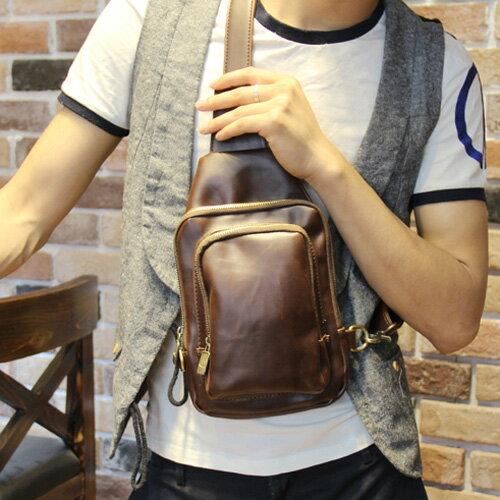 PocoPlus 韓系 胸前包 跨肩包 韓版潮流小包 單肩包 雙層胸前包 【B171】
