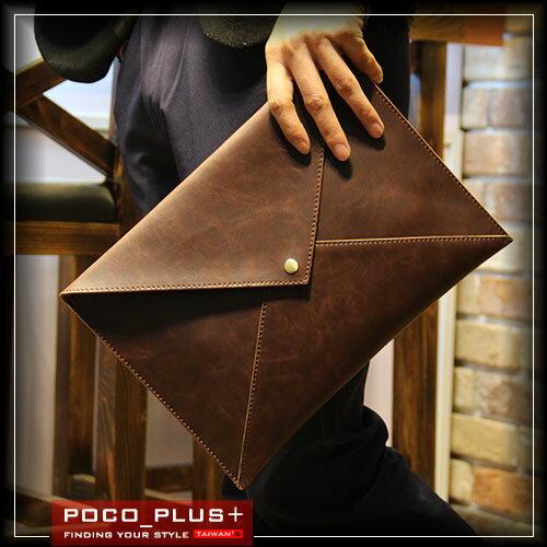 PocoPlus 韓版手拿包 信封包 IPAD包 A4文件包 公事包 正韓直達 潮包 側背包 單肩包 【B370】