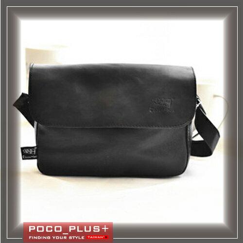 PocoPlus 韓版潮牌 時尚休閒包 單肩包 斜背包 平滑質感【B593】
