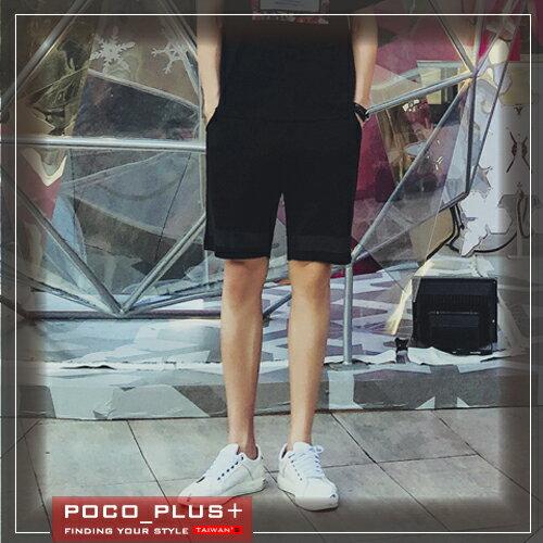 PocoPlus 韓版夏季新款 潮男純色修身短褲 男士印花短褲 時尚休閒   M107