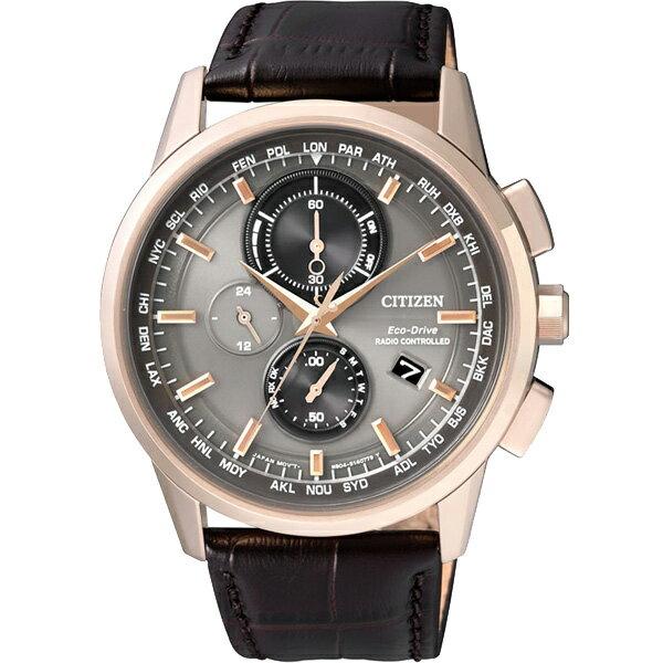 CITIZEN星辰AT8113-12H高科技品味電波光動能腕錶/黑面43mm