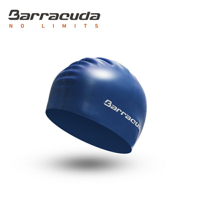 美國巴洛酷達Barracuda成人矽膠泳帽-深藍 0