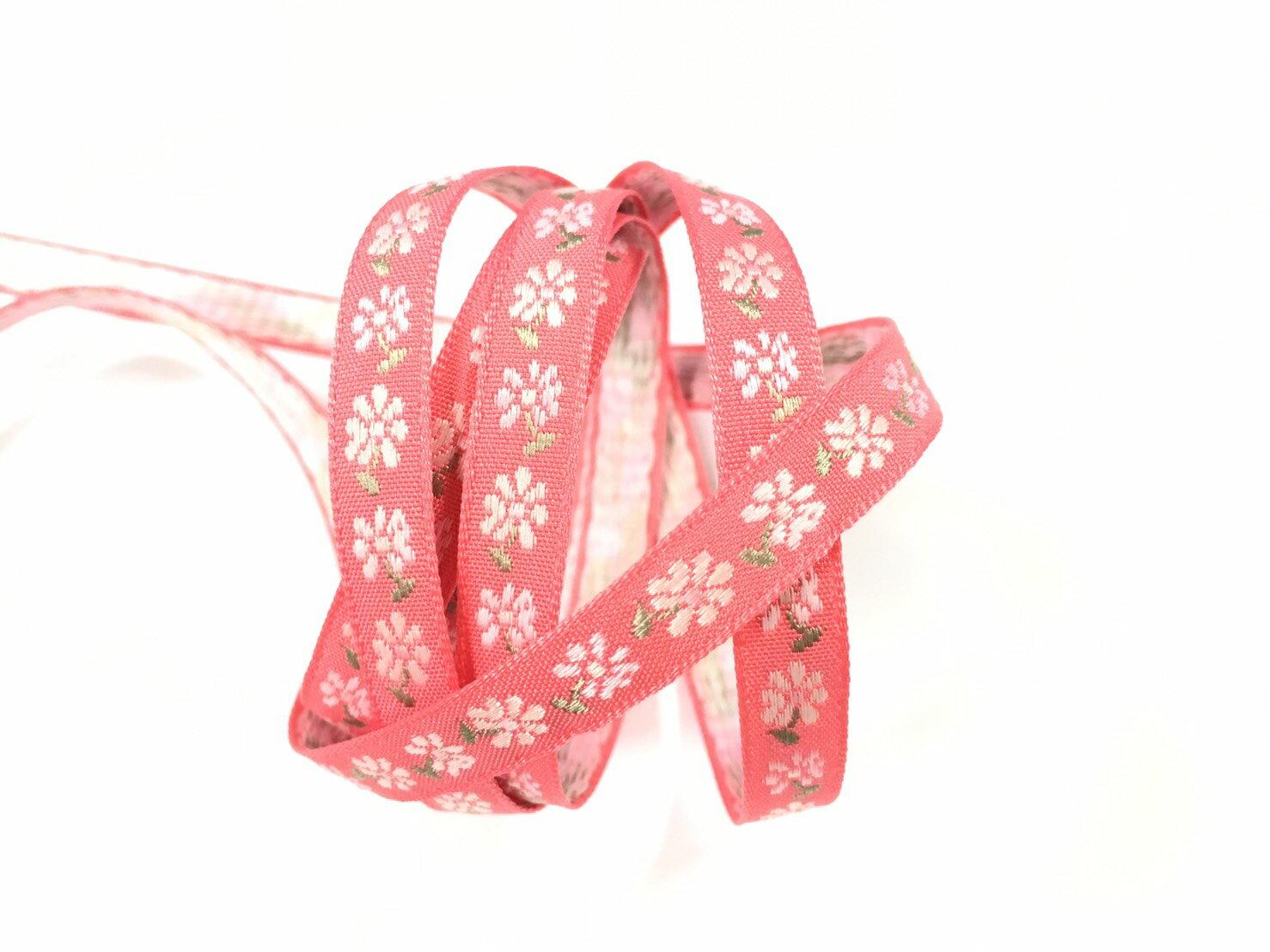 五瓣緹花緞帶 9mm 3碼 (7色) 4