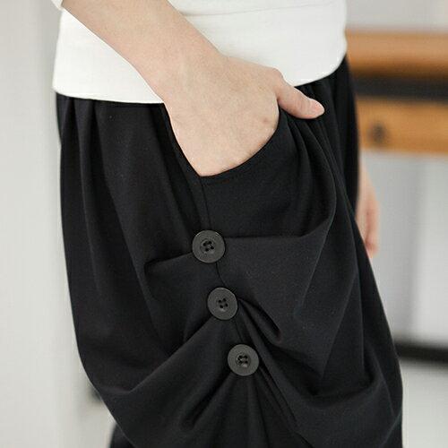 哈倫褲 - 流線垂墬雙側3釦超彈性細軟冰絲寬鬆飛鼠褲休閒褲 【22393】 藍色巴黎 ☛ 現貨 MIT 1