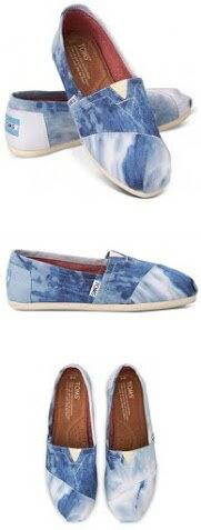 【TOMS】水洗牛仔帆布休閒鞋  Blue Tie-dyed Women's Classics 4