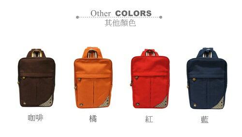CORRE【CG71070】帆布毛革兩用後背包 共四色 紅/藍/橘/咖啡 2