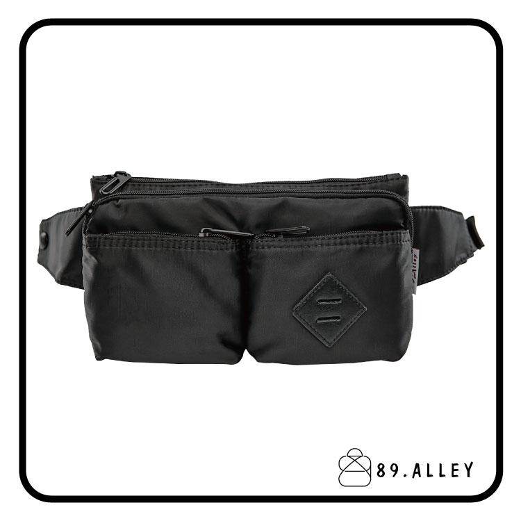 腰包 單肩包 女包男包 黑色系防水包 輕量尼龍多層情侶防搶包 89.Alley ☀1色 H