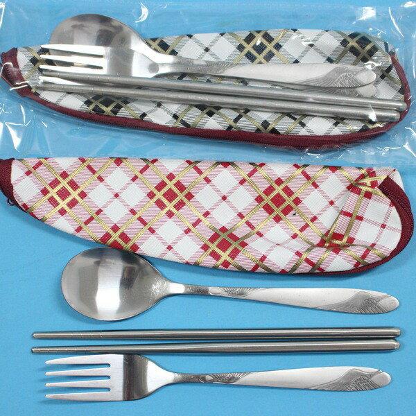 筆袋型不銹鋼餐具組 3件入筷套組M-8128/一組入{促99}~秉D112001生活家