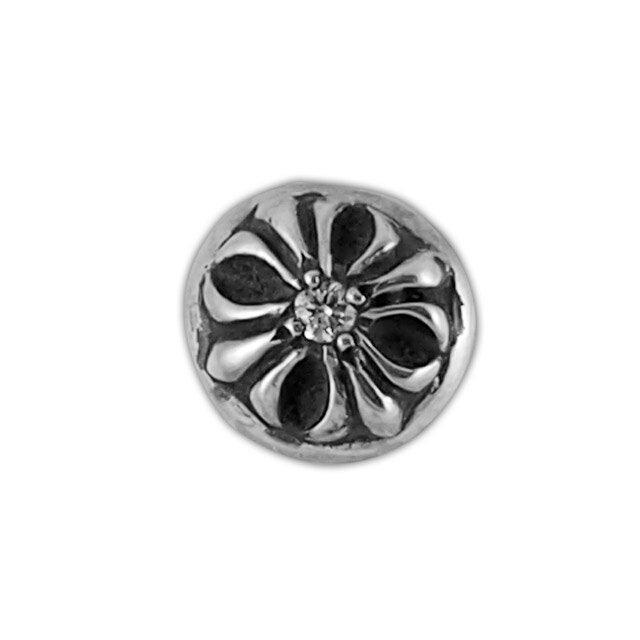 【現貨商品】【Chrome Hearts】圓形十字架純銀耳環 - 客製化鑽石款 (CHE-014-D) 0