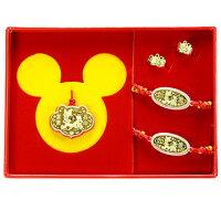 彌月禮盒推薦迪士尼金飾-兩小無猜-彌月金飾禮盒 (0.30錢)