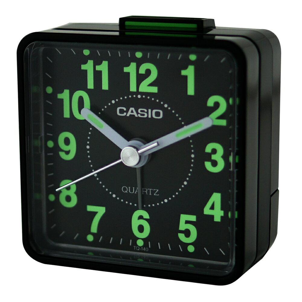CASIO 卡西歐 TQ-140 袖珍型夜光石英鬧鐘 0