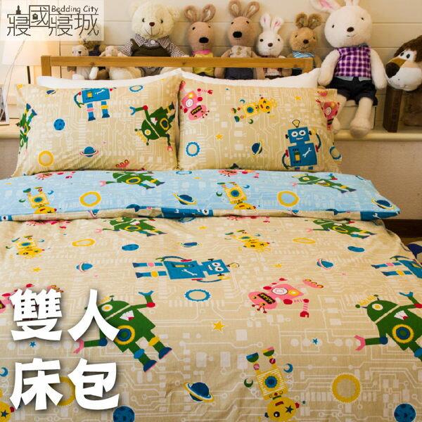 雙人床包+被套/100%精梳棉-多款花色可挑選【大鐘印染、台灣製造】 #精梳純綿 3